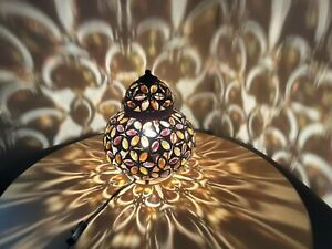 Large Stunning Turkish Moroccan Syle Beaded Lamp, Hippy Boho
