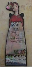 dd Love big wide with whole heart KELLY RAE ROBERTS Angel Ornament Card