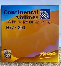 """RARE Dragon Wings Continental Airlines Boeing 777-200 """"Peter Max"""" Model 1:400"""