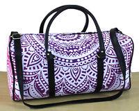 Indian Multi Pink Ombre Duffle Sports Gym Bag Unisex Travel Bags Mandala Handbag
