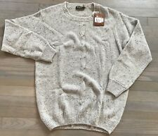 1,375$ Loro Piana Gray Crewneck Cashmere sweater Size 58 or XXXL Made in Italy