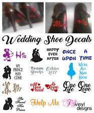 Wedding Shoe Decal sticker vinyl