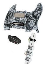 Fender Tele Telecaster Loaded Pickguard Duncan Brent Mason Pickups Black Paisley