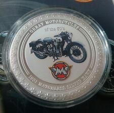Cook islands 2 dollars 2007 Motocycle 1931 Matchles Silver Hawk  Silver 1oz