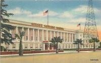 1940s Hollywood California Sunset Bowling Center flag Teich postcard 9013