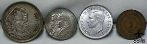 Lot of 4: Australia, Brazil & Egypt Silver Coins + Jordan Bronze Coin ASW 0.63oz