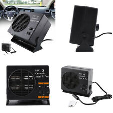 2-in-1 Portable 12V Auto Car SUV Heating Fan Heater Defroster Ceramic Demisters