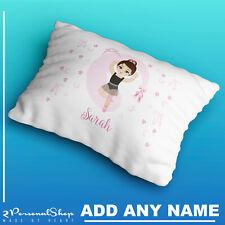 Personalised Ballerina Pillow Case Printed Gift Custom Print Made Children Kids