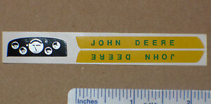 Hood and Dash Decal Set for 1/16 3020 JOHN DEERE Tractors Computer Cut