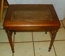 Walnut Vanity Bench with Caned Seat  (BN171)