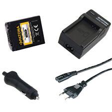 Batteria Patona + caricabatteria casa/auto per Panasonic Lumix DMC-FZ50EG