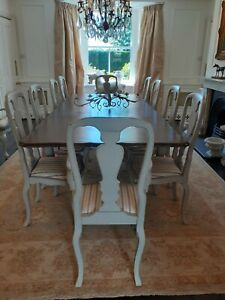 French style  extending dining table (to seat 10)