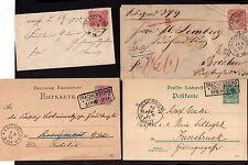 v160 Trachenberg Schlesien NDP 1870 Ganzsache 1878 Brief 1889 1891 GS Paketkarte
