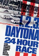1968 Daytona 24 Hour Race - Porsche 1 2 3 - Promotional Poster