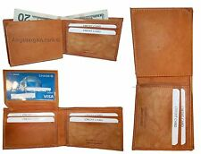 Lot of 3. Man's wallets. new style, leather, 2 suede lined billfolds Credit card