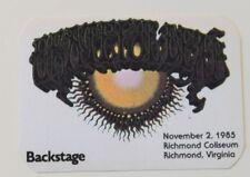 Grateful Dead Backstage Pass 11-2-85 Richmond Coliseum Rick Griffin Artwork