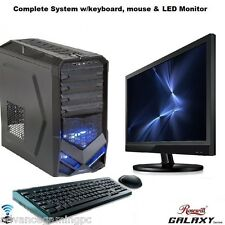 AMD Quad Core Gaming PC Computer 2TB New Fast Custom Built Desktop System