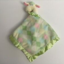 Blankets And Beyond Giraffe Security Blanket Diamond Green Pink Lovey