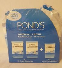 POND'S Original Fresh Moisture Clean Towelettes - 28 Count x 2 + Bonus 15 Pack