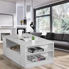Modern Couchtisch Hochglanz Sofatisch Stauraum Aufbewahrung für Wohnzimmer