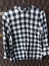 Women's PAPAYA Weekend Black White Stunning Checker Top Size 10 $69 bought in UK