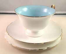 Shelley Art Deco Gainsborough Vintage English Bone China Trio Cup Saucer Plate