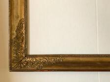 Grosser Empire Rahmen 108 x 80,5 cm Holz Stuck Vergoldung Frankreich 19. Jh.