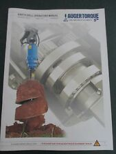 Auger Torque Earth Drill Operation & Maintenance Manual 99-95200011-REV-07 8/13