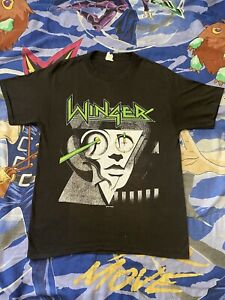 Vintage Winger Too Tuff To Tame Tour T Shirt Size Large