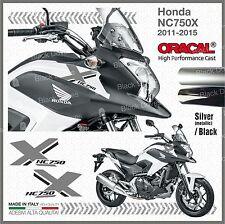 2x Black/Silver NC750X Honda 2011-2015 PEGATINA AUTOCOLLANT STICKERS ADESIVI