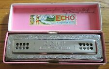 Vintage The Echo Harp Double Sided Harmonica M. Hohner Germany Model 56/96 C/G