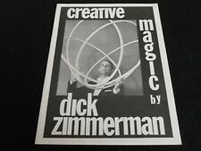 Creative Magic by Dick Zimmerman - Close Up Tricks - Cards, Coins, Etc.