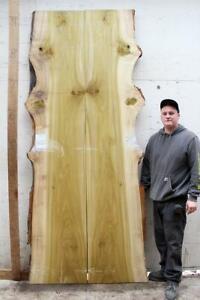 Live Natural Edge Dining Table Tulip Poplar Wood Slab Custom Furniture 6905m1