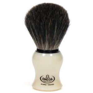 Omega Italy - 24 MM Best Badger Hair Shaving Brush Medium Size Plastic Handle