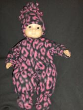 """Pink Leopard Sleeper Hat 15"""" Doll Clothes Handmade 2Fit American Girl Bitty Baby"""