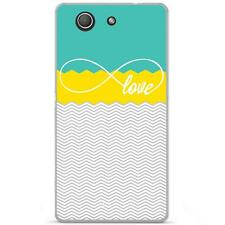 Coque Housse Etui Sony Xperia Z3 Compact à motif Silicone Gel - Love turquoise