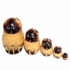 Chat siamois Poupee gigogne Mini Matriochka, cadeau Collection chats siamois