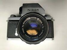 Vintage Legendary Nikon-F 35mm Japan Film Camera with NIKKOR-S f50mm Lens