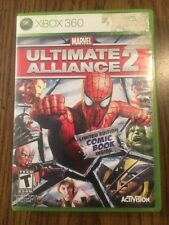 Marvel: Ultimate Alliance 2 (Microsoft Xbox 360, 2009) COMPLETE W/ Comic