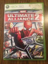 Marvel: Ultimate Alliance 2 (Microsoft Xbox 360, 2009) COMPLETE W/ Comic