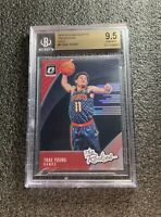 TRAE YOUNG 2018-19 DONRUSS OPTIC #5 THE ROOKIES HOLO SP BGS 9.5 GEM MINT! HAWKS