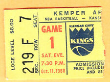 SCARCE 1980 KC KINGS OPENING DAY TICKET STUB VS. UTAH JAZZ-10/11/80-KEMPER ARENA