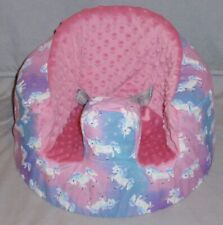 New Bumbo Floor Seat Cover • Cotton Candy Unicorn • Safety Strap Ready