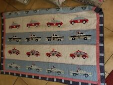 "Pottery Barn Kids ""Vintage Cars"" Twin Quilt"