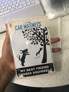 """""""My Best Friend Chases Squirrels"""" Car Magnets, Little Gifts NWT Pet Car Magnet"""