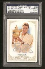 Roger Federer Wimbledon 2012 Topps Allen & Ginter Card #157 Signed Auto PSA/DNA