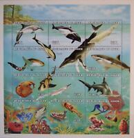 NIGER 1998 ZD 1506-17 982 Marine Life Meerestiere Sea Fauna Fische Fish Sharks