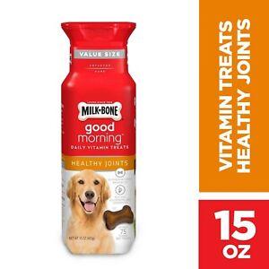Milk-Bone Good Morning Daily Vitamin Dog Treats, Healthy Joints, 15 Ounces
