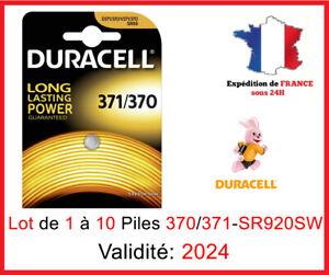 Lot de 1 à 10 Pile 371/370-SR920SW-AG6 - Montre / Oxyde d'argent 1,5V DLC 2024