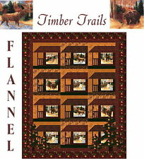 Timber Trail Flannel Quilt Kit Beautiful Moda Fabric by Holly Taylor Flannel